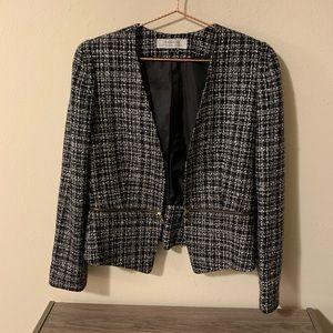 Tahari Tweed Peplum Blazer